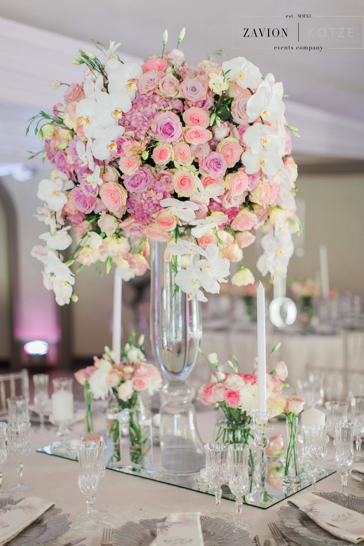 Soft Pink Hydrangeas Roses And Orchids Silver Decor Wedding Classic Wedding Beautiful Bride Mass Flowers Ma Top Wedding Planners Wedding Wedding Classic