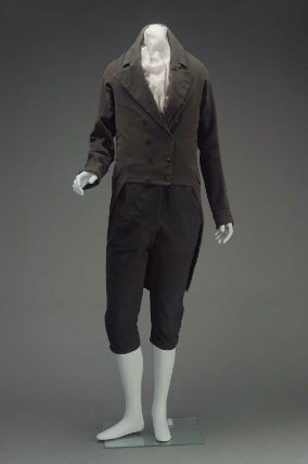 Suit 1815, American, Made of wool