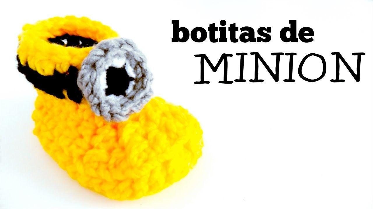 Botas de Minion a Crochet para Bebés | Crochet