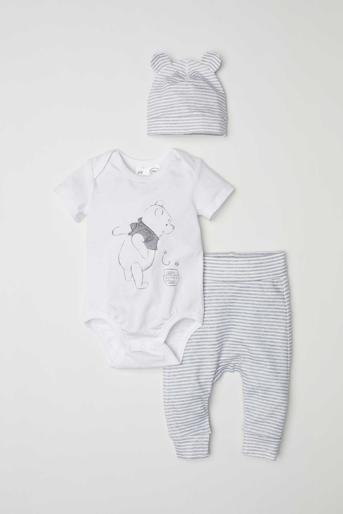 0faed5304 White Winnie the Pooh. CONSCIOUS. Set with a short-sleeved bodysuit ...