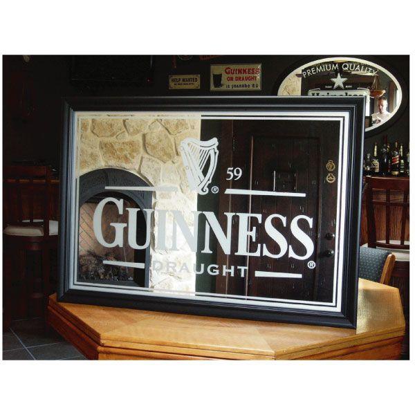 Similar Guinness Mirror But Monochrome