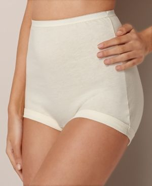 Vanity Fair Plus Size Cotton Lollipop 3 Pack 15867 - Ivory/Cream 12