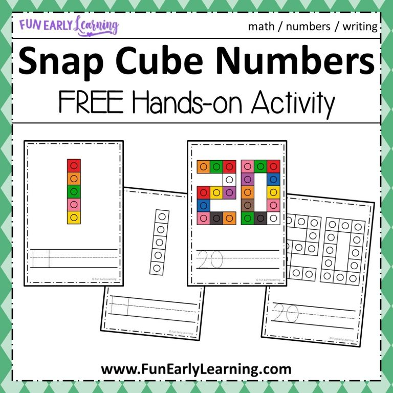 Snap Cube Numbers Math Activity | Little Tiger Math Time Fun ...