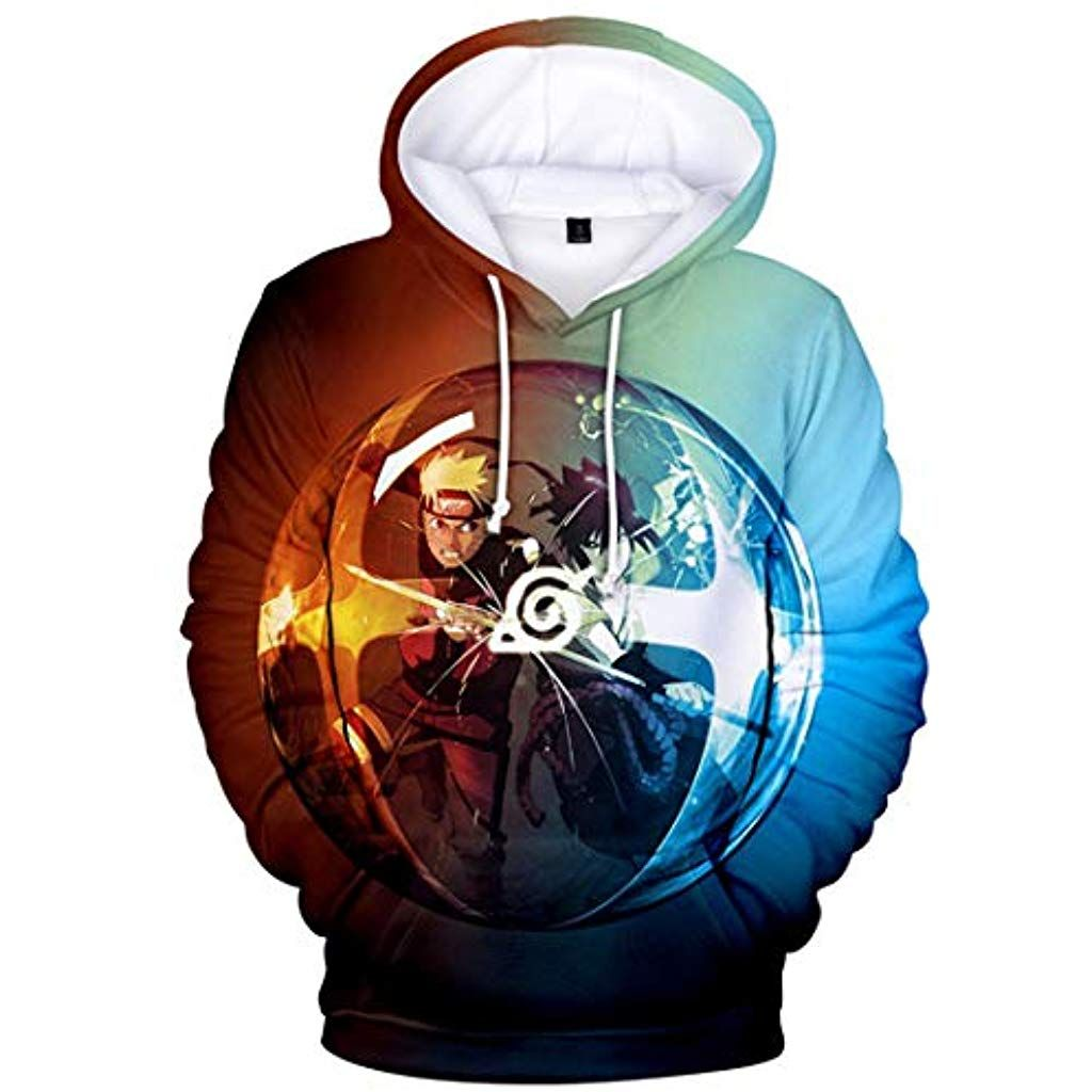 FLYCHEN Boys Fashion 3D Printed Cartoon Hoodies Sweatshirt Show Support to Anime Naruto
