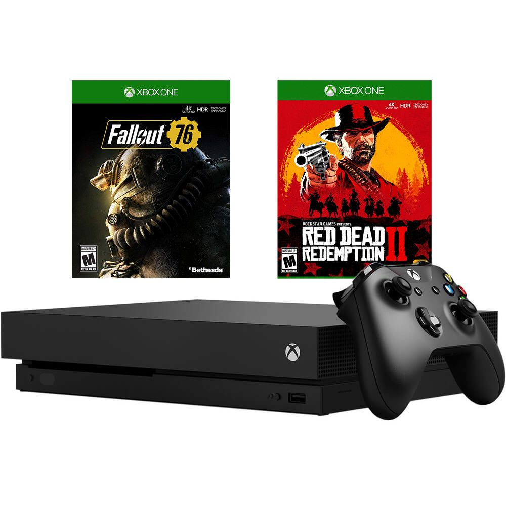 Microsoft Xbox One X 1tb Fallout 76 Red Dead Redemption 2 Bundle Xboxxft76rdr Xboxone Xbox Game Xbox One Red Dead Redemption Xbox