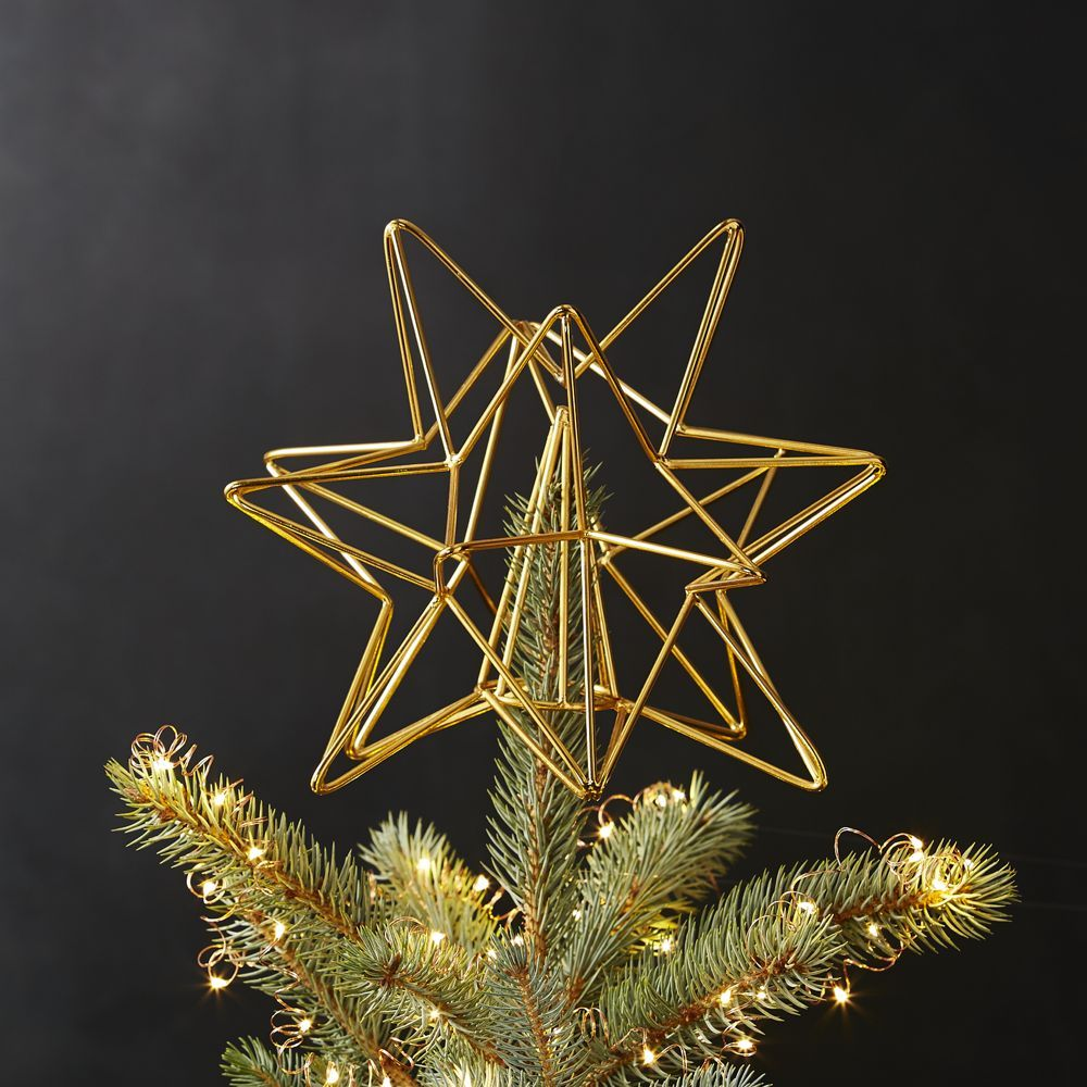 Gold Star Tree Topper By Cb2 Boho Christmas Tree Christmas
