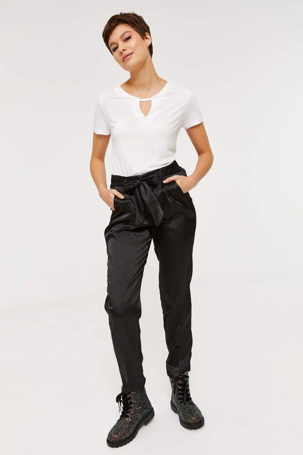 c4ee92887a1 Ardene Satin Paperbag Pants | Products in 2019