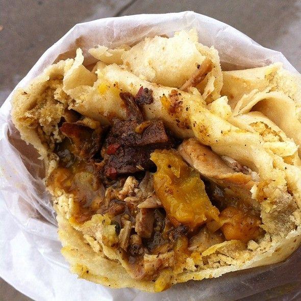 Jerk Chicken Roti Monas Roti Caribbean Food Yumtastic Curry