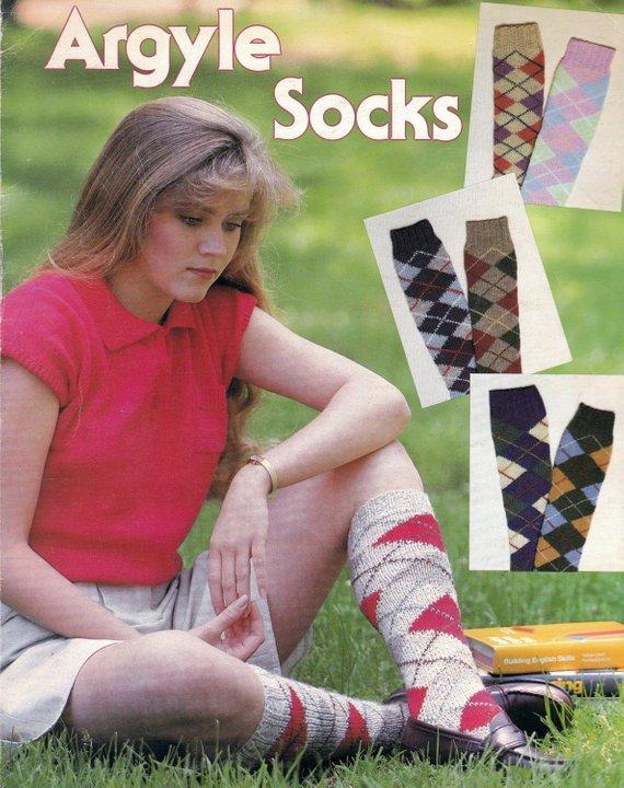 Knit Womens Argyle Socks Vintage Knitting PDF PATTERN in ...