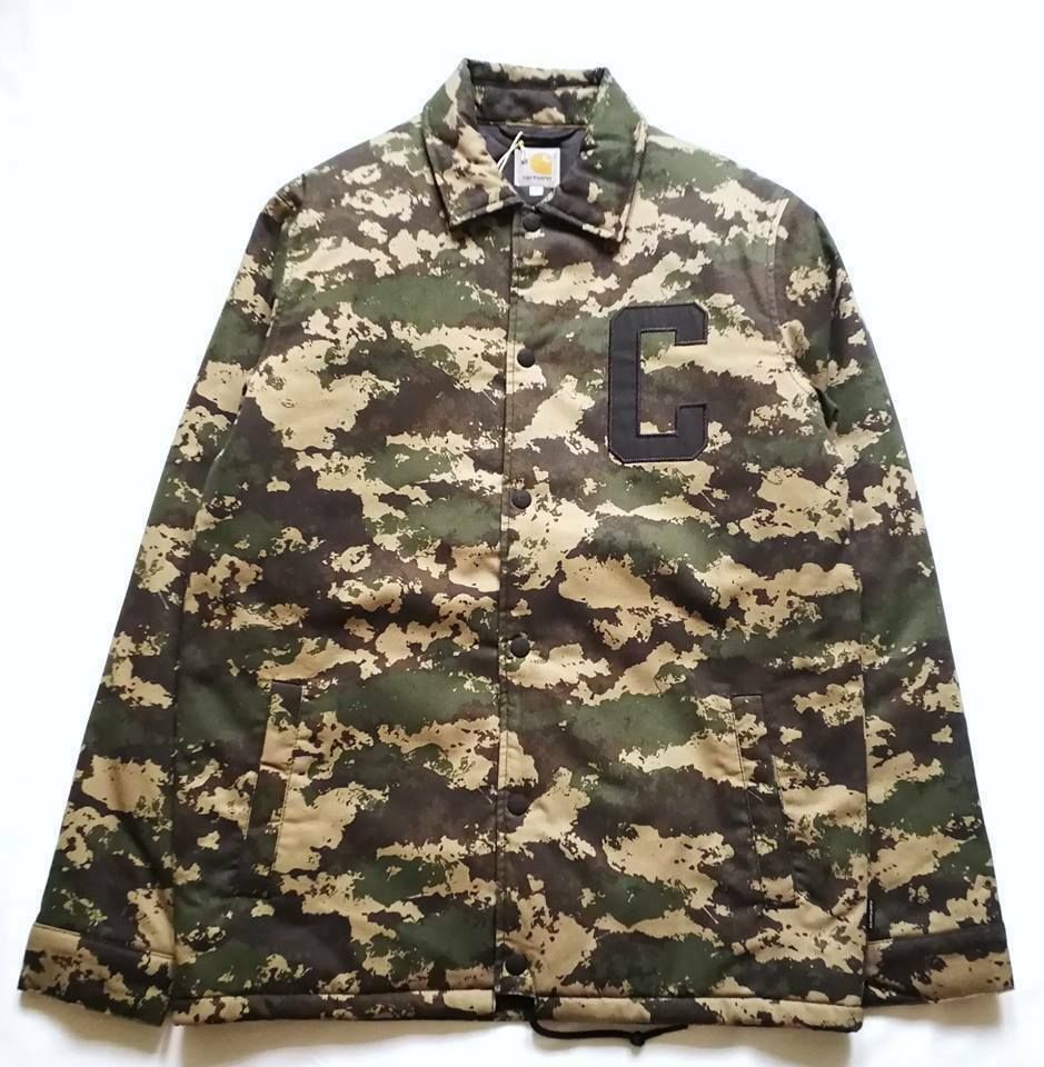 factory price exquisite style buy CARHARTT WIP PENN JACKET CAMO PAINTED GREEN S #fashion ...