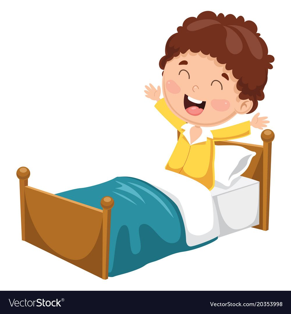 Kid Waking Up Download A Free Preview Or High Quality Adobe Illustrator Ai Eps Pdf And High Resoluti Farm Theme Preschool Routine Cards Morning Routine Kids