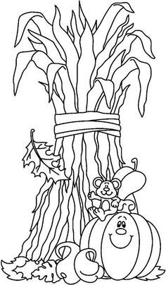 Fall Coloring Pages On Pinterest Coloring Pages Scarecrows And
