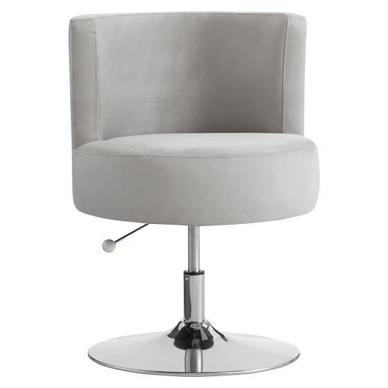 Round About Desk Chair Grey Desk Chair Oversized Chair Living Room Chair
