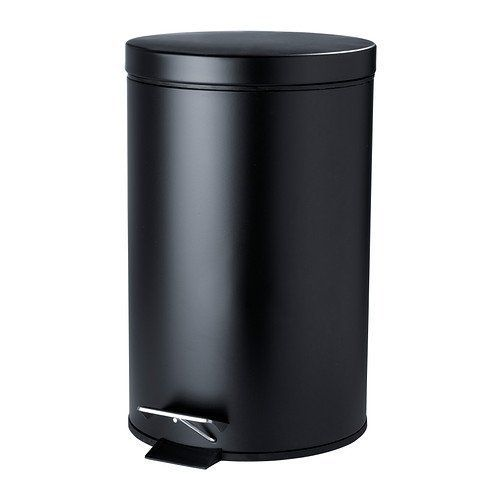Mdesign 5 Liter Rectangular Small Steel Step Trash Can Wastebasket Garbage Container Bin Bathroom Powder Room Bedro Garbage Bin Garbage Containers Trash Can