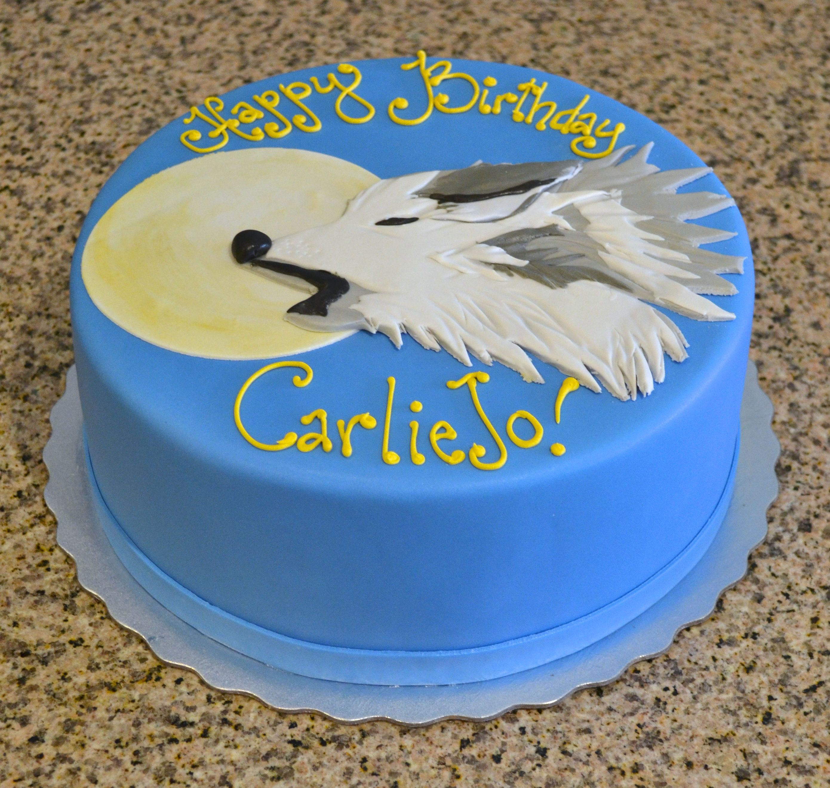 Howl At The Moon! Wolf Birthday Cake by Sugarland ...