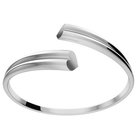 Love Bangle ~ Polished Sterling Silver with a Delicate Heart Shape