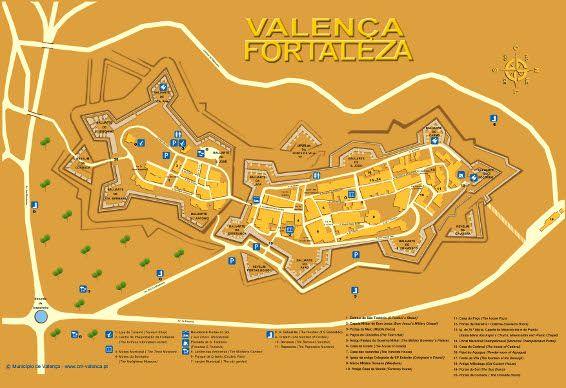mapa de valença do minho portugal Mapa de tiendas de A Fortaleza de Valeça do Miño #Portugal  mapa de valença do minho portugal