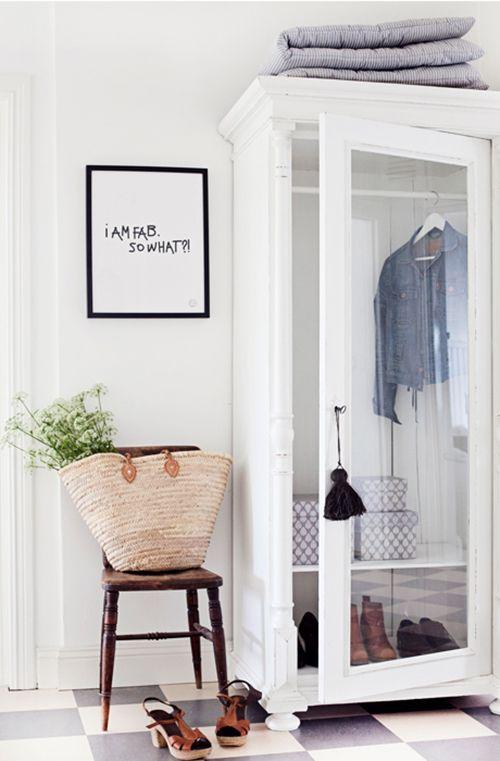 Un hall d 39 entr e en blanc entr e entrance pinterest - Comment amenager un hall d entree ...
