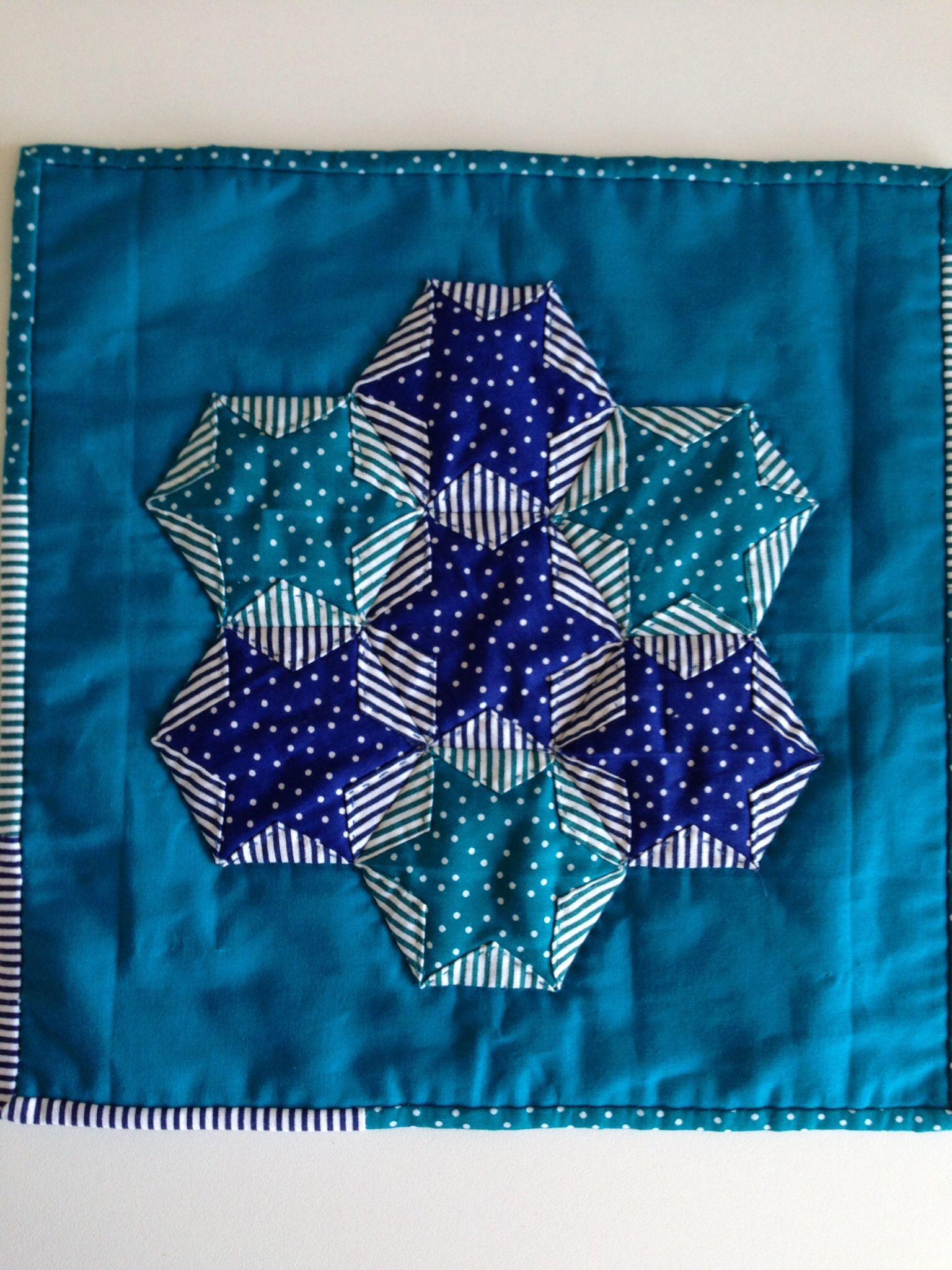 Japanese Folded Hexagon Star Japanese Patchwork