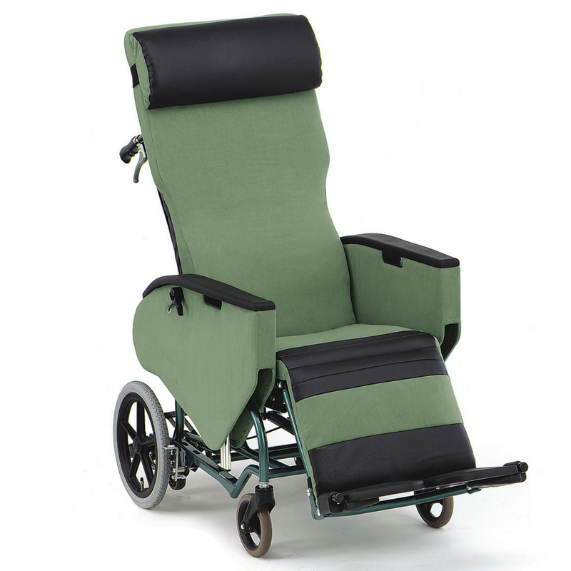 Plush Wheelchair Bed Fully Tilt and Reclining Recliner