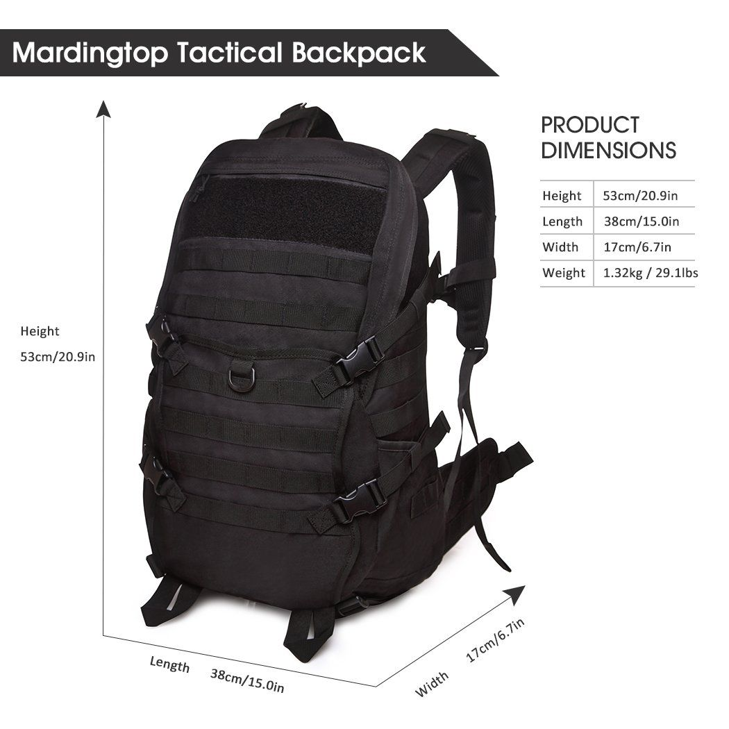 Mardingtop Tactical Backpack/Molle Backpack/Military Rucksacks ...
