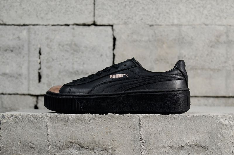 098230a56adc Purchase Womens PUMA Basket Platform Metallic Black Noir-Rose Gold  366169-02 Classic Lifestyle Sneakers Youth Big Boys Shoes
