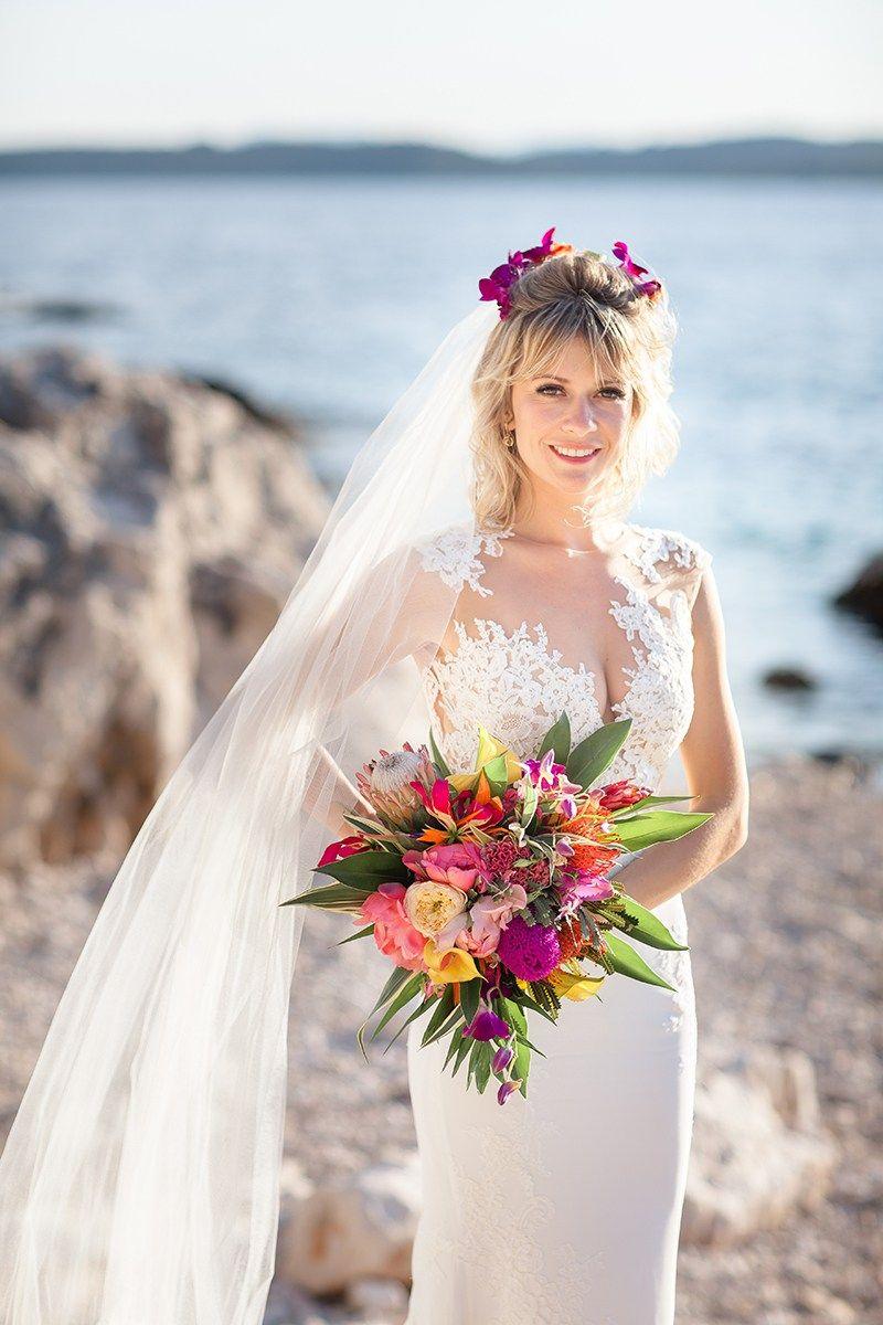 Tropical destination wedding in croatia beach bride pinterest
