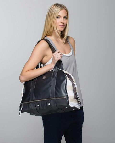 a2adf8bea7 Lululemon Om for All Bag  Canvas  118.00 Beach Stripe Printed Cashew  White Soot ~