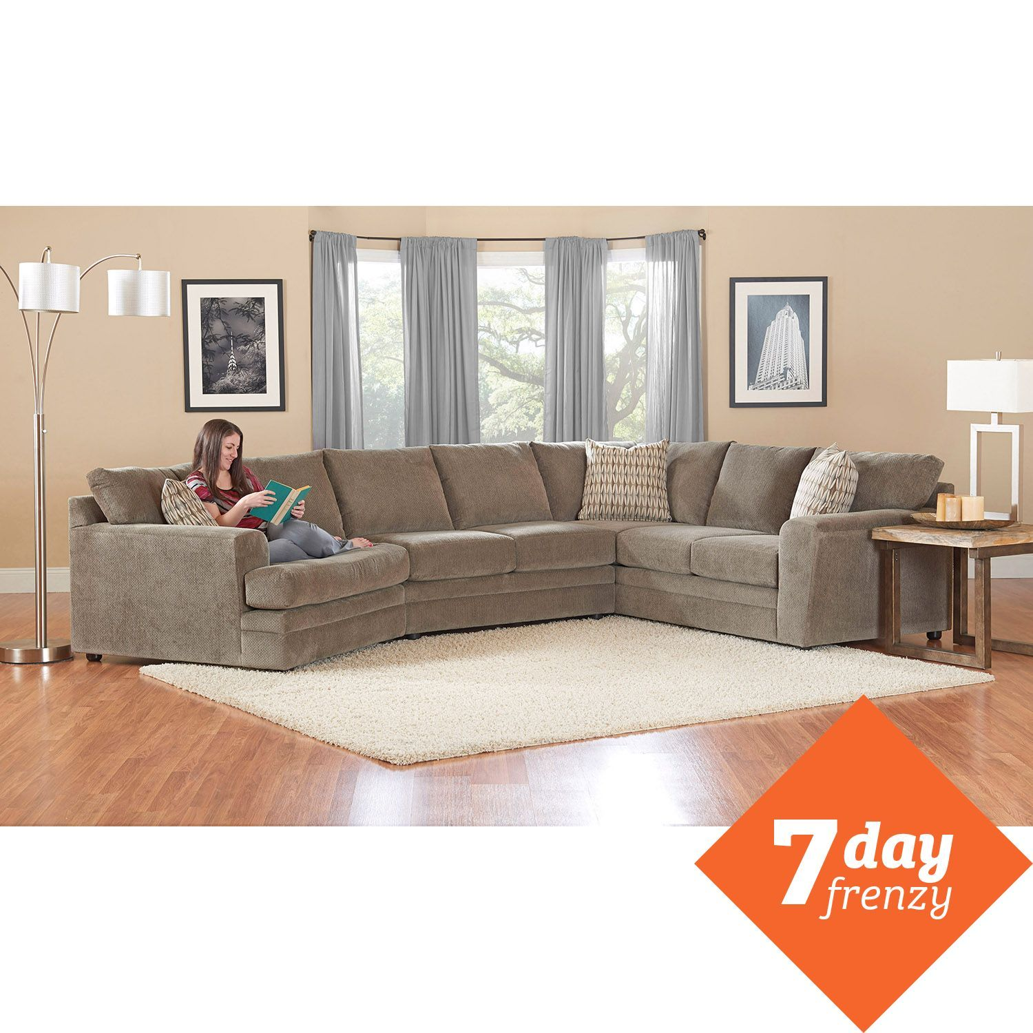 $1499 Prestige Ashburn Sectional Sofa Home Decor