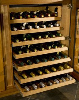 Bon Rollout Shelves For Wine Bottle Display In A Wine Cabinet