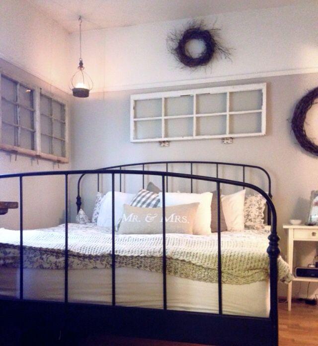 master bedroom revere pewter griege rustic  master
