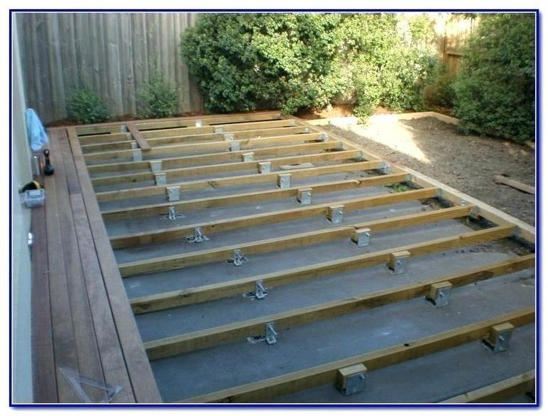 Deck Over Concrete Patio Design backyarddecksfloating