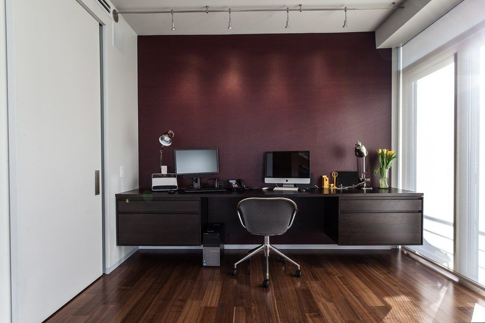 office decor burgundy accent wall burgundy walls on office accent wall color id=92520