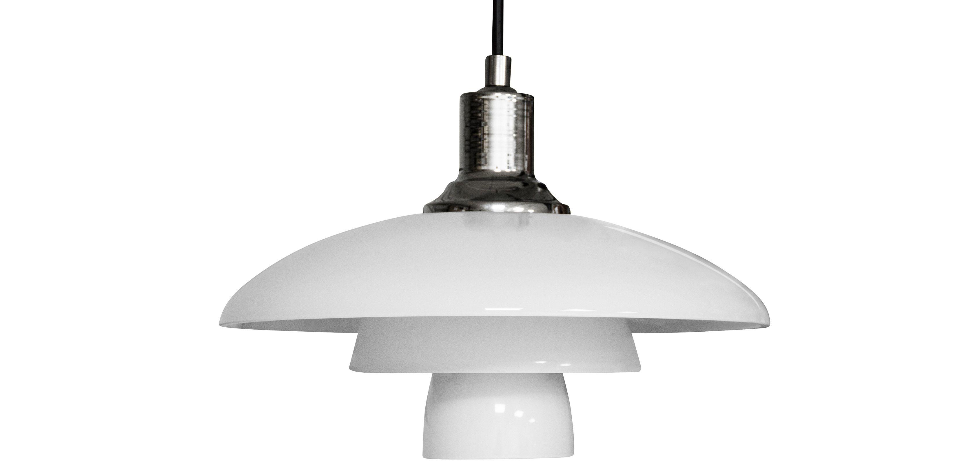 96 Pl 2 1 Hangeleuchte Weiss Stahl Opalglas Illuminazione Soffitto Lampadario Vetrate