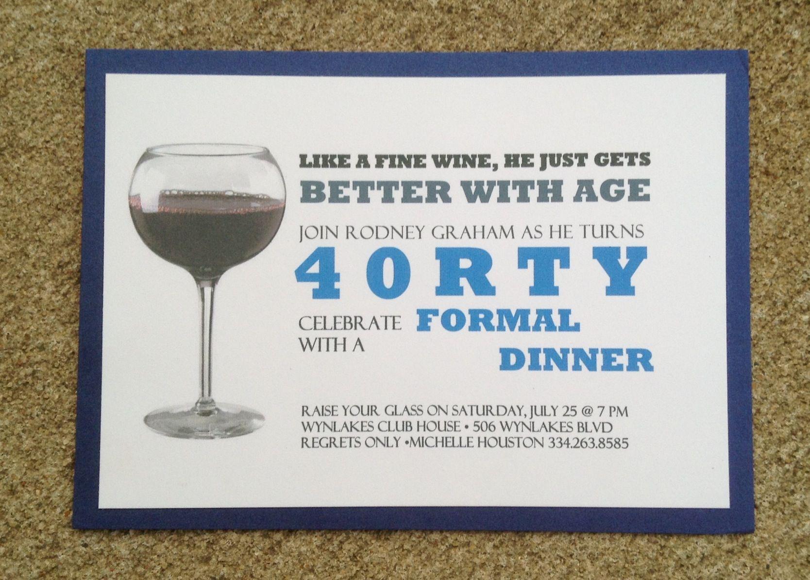 40th birthday invitation | Birthday Invitations | Pinterest | 40 ...