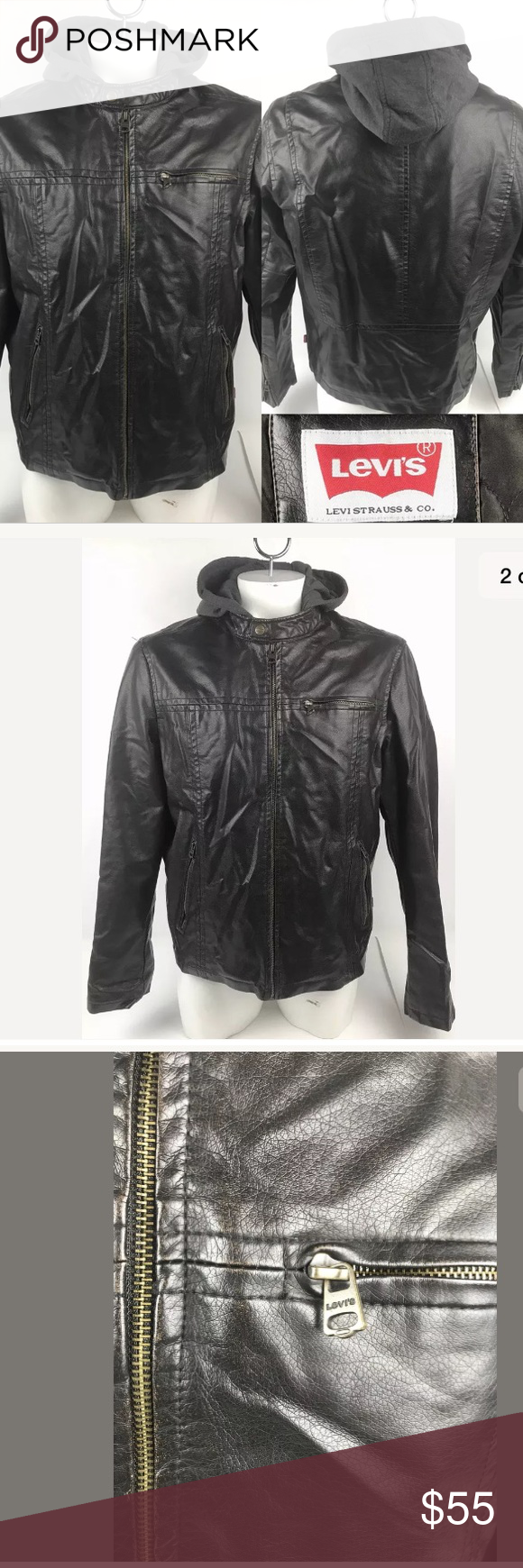 Levis Zip Up Gray Hood Brown Faux Leather Jacket Levis Zip Up Gray Hood Brown Faux Leather Jacket Brown Faux Leather Jacket Leather Jacket Faux Leather Jackets [ 1740 x 580 Pixel ]