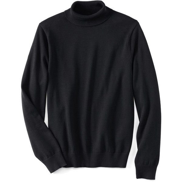 a87be8b99d Lands  End Men s Classic Fit Fine Gauge Supima Cotton Turtleneck ( 25) ❤  liked