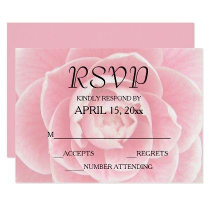 Pink Camellia Bloom Floral Card - wedding planning checklist cyo helper helpers
