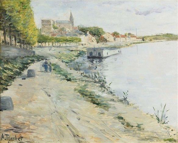 Louis Abel Truchet - Vue estivale de la Seine dans le Nord de la France (1890)
