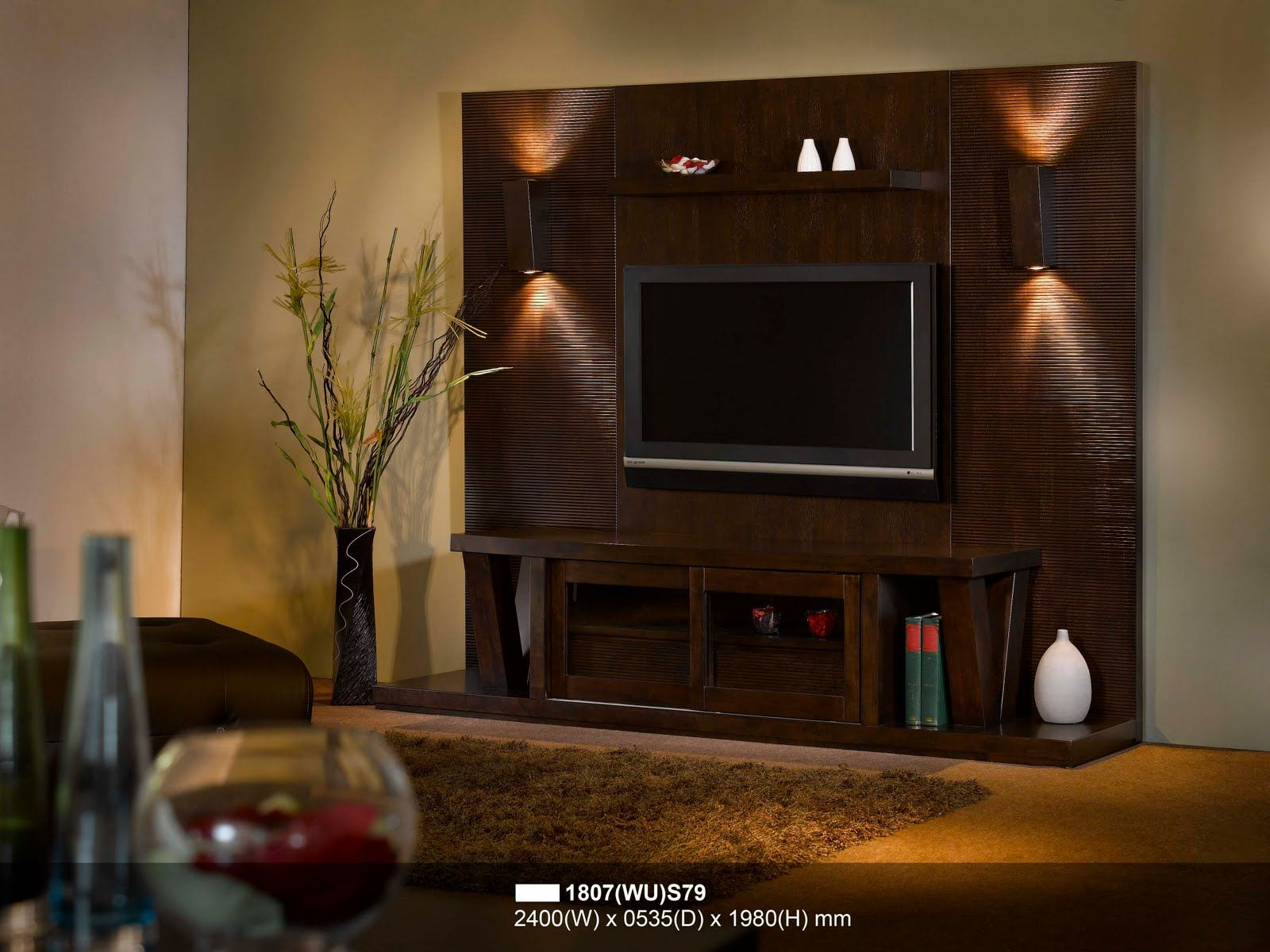 Modern wall units tv cucca home design wall unit tv for Modern tv unit design ideas