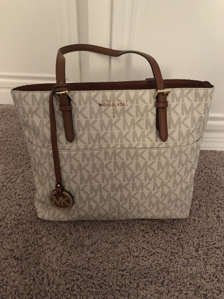 9968eb2868d0 ... uk michael kors bedford signature large pocket tote bag fashion  clothing shoes accessories womensbagshandbags ebay link
