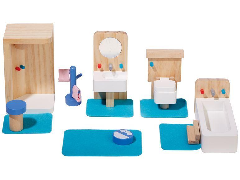 Playtive Puppenhaus Badewanne Holz Puppenstuben & -häuser