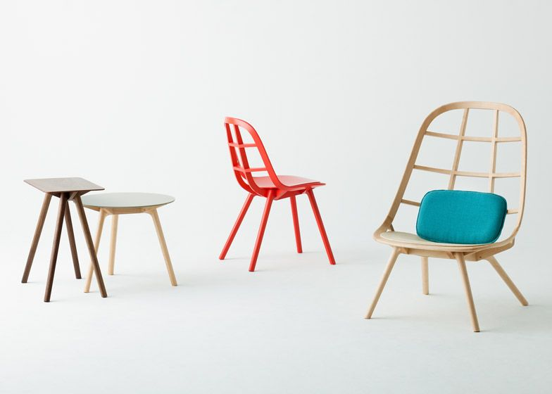 This collection of wooden furniture by Japanese designer Jin Kuramoto is built using traditional techniques derived from shipbuilding