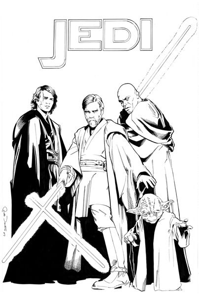 Jedi In Rob Jones S Artwork Comic Art Gallery Room 235241 Star Wars Coloring Book Star Wars Comic Books Star Wars Images