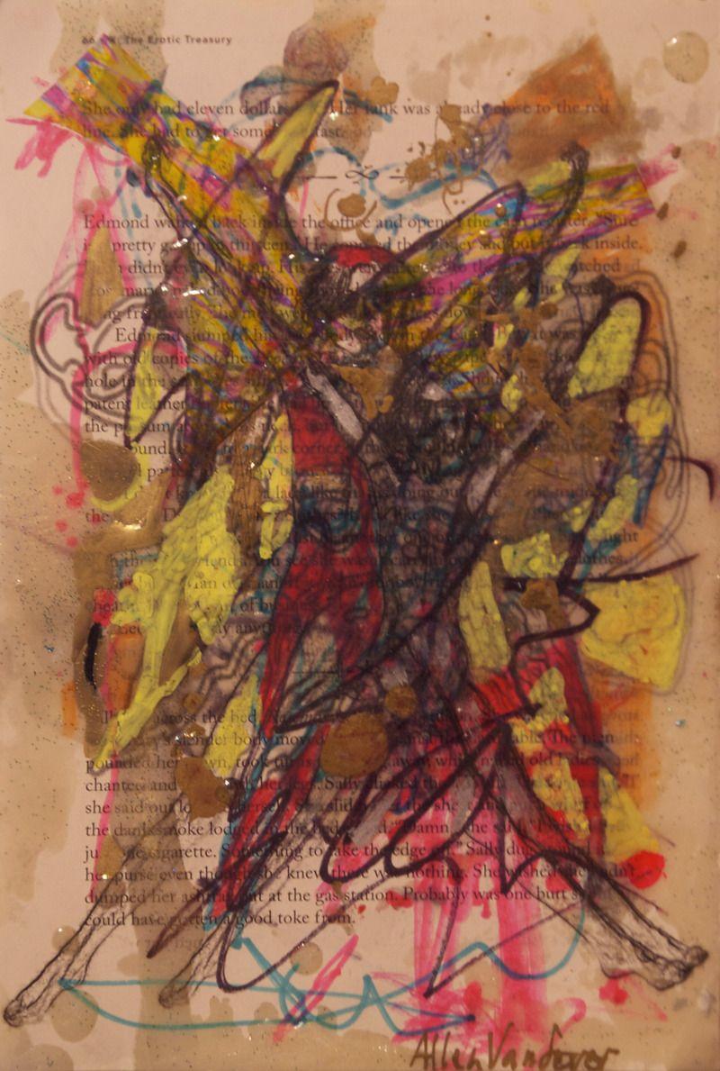 Allen Vandever; Chicago; cotemporary; new; yoga; nude; epoxy; artist; abstrac; new; collage; Chicago Artist Et6
