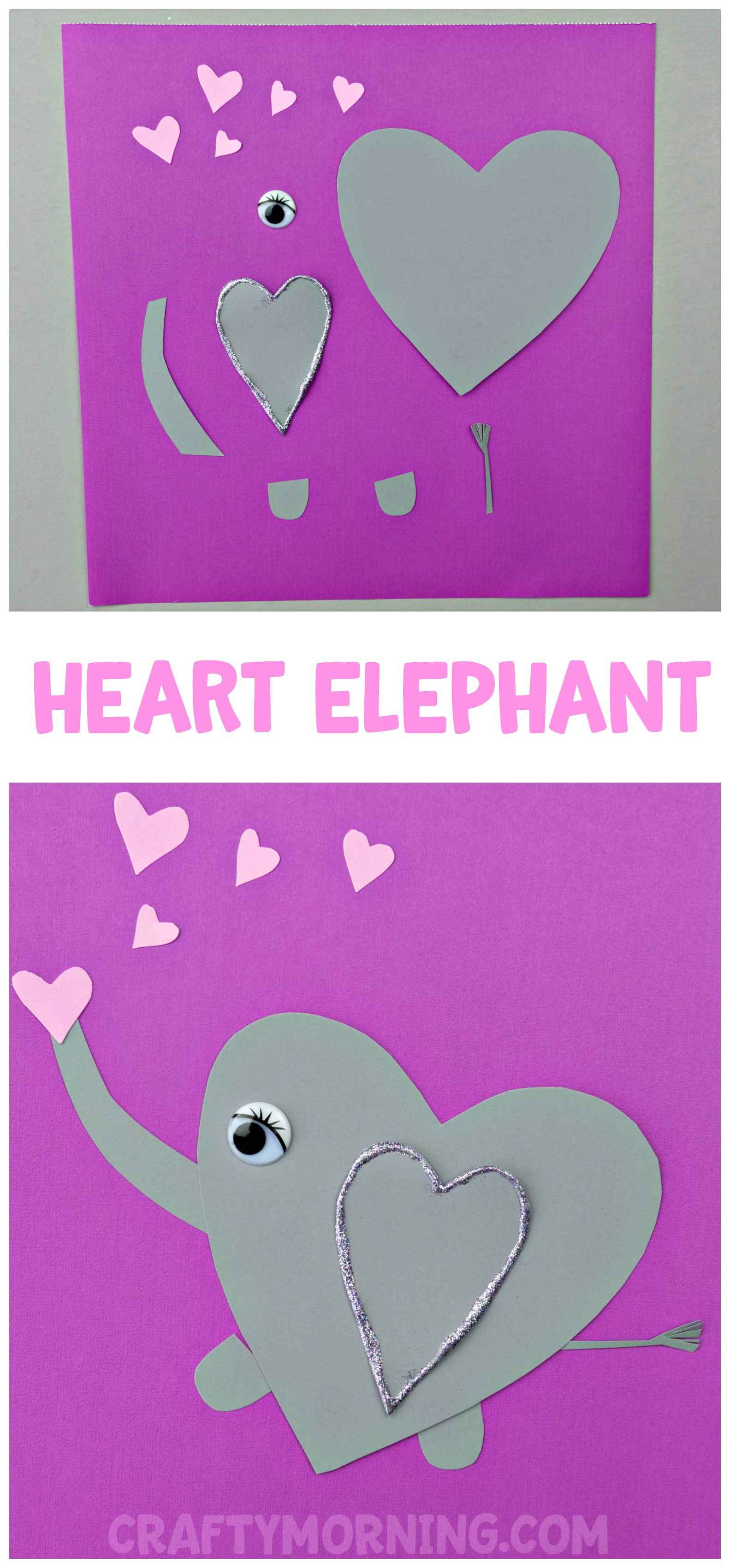Heart Elephant Valentine Craft