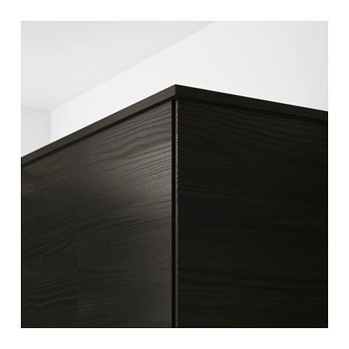 TINGSRYD Bandeau décor arrondi effet bois noir