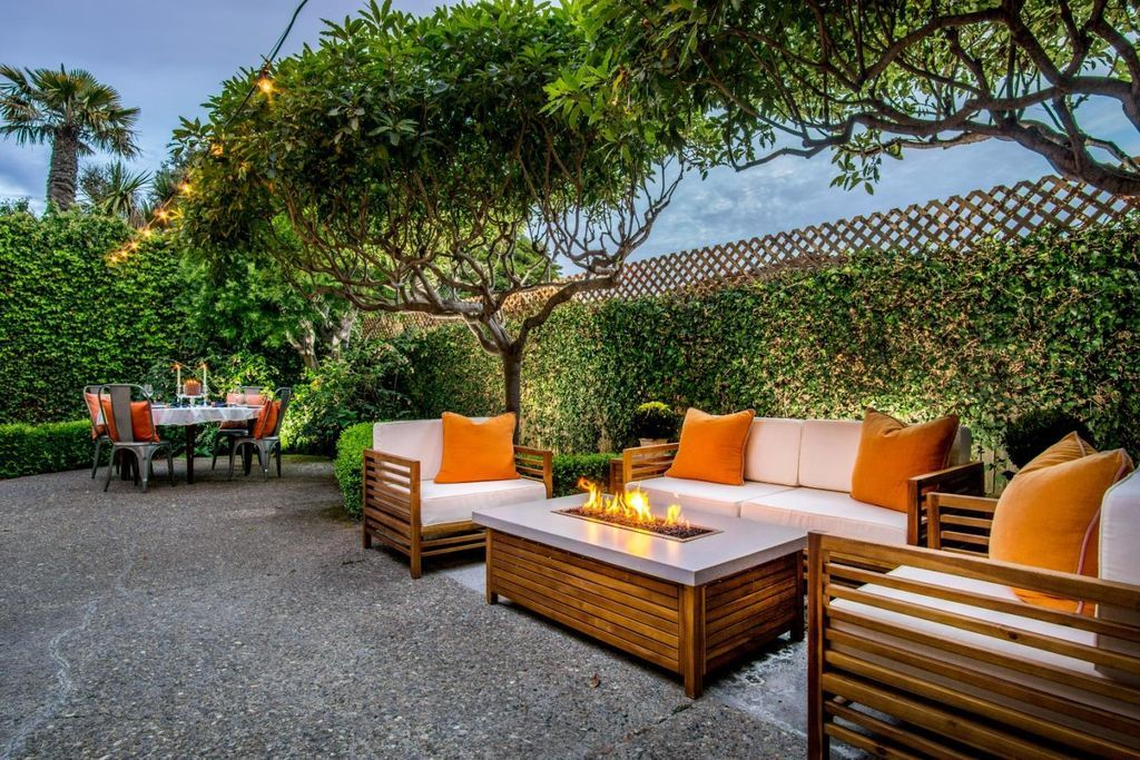 Outdoor living space in California- amazing patio ... on Fine Living Patio Set id=12516