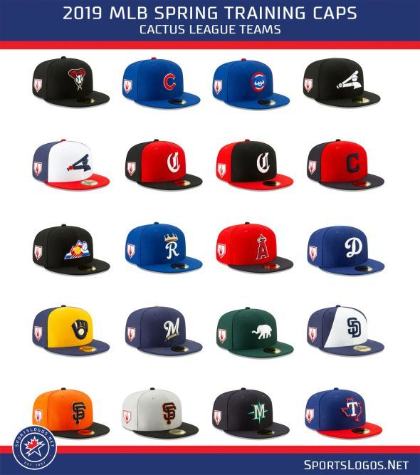 f77eff2d1 MLB Releases 2019 Spring Training Cap Collection | Chris Creamer's  SportsLogos.Net News and Blog : New Logos and New Uniforms news, photos,  and rumours