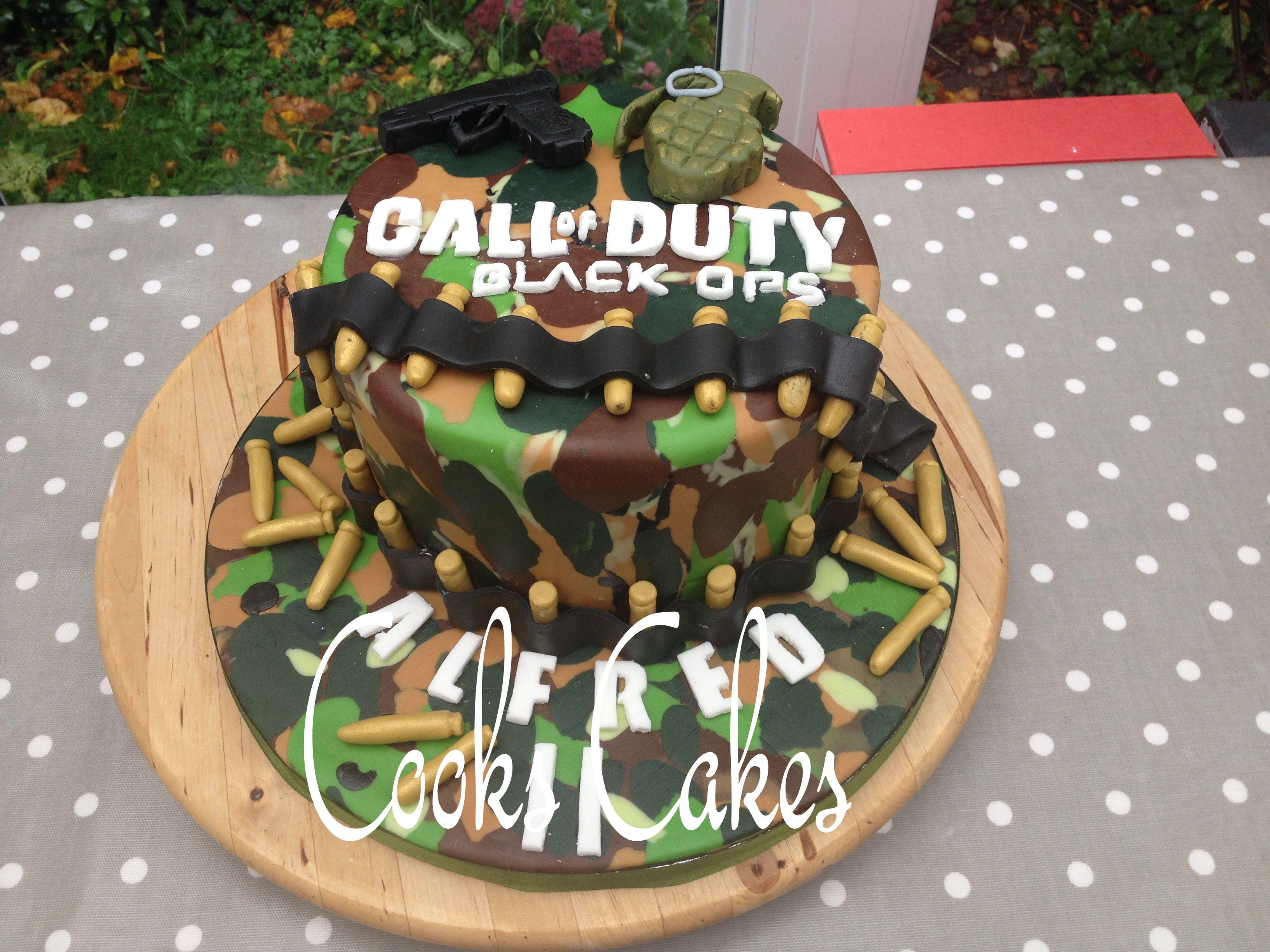 Call of Duty Cake, Black Ops cake, COD cake, Boys birthday